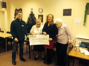 Macmillan Coffee morning cheque presentation