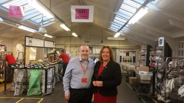 With Delivery Office Manager Paul Turner