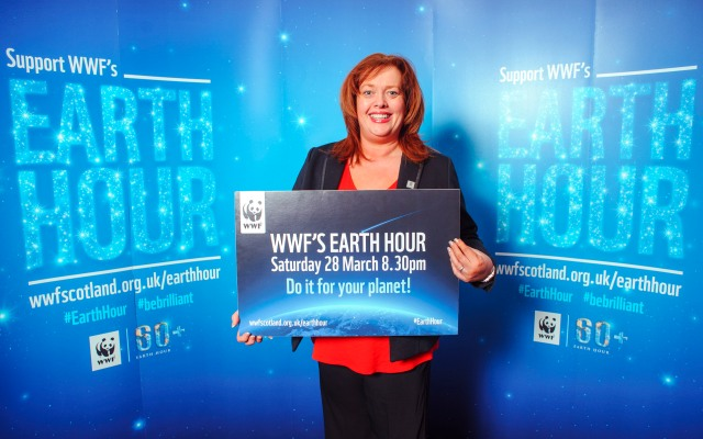 MSP's show their support for Earth Hour.